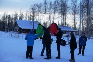 Ski lantern launches
