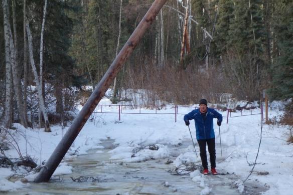 Robert practicing his doublepole