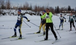 20 km skiers near Old Steese