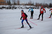 FXC skier ahead of Corinne and Magnus