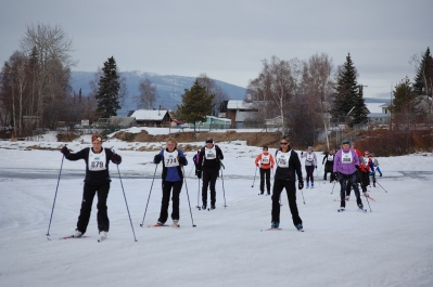 Group of female 20 km skiers
