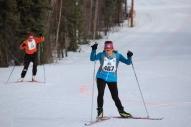 Michele Ethun 40 km skier w Sven Grage 50 km racer
