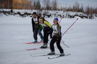 Young 20 km skiers