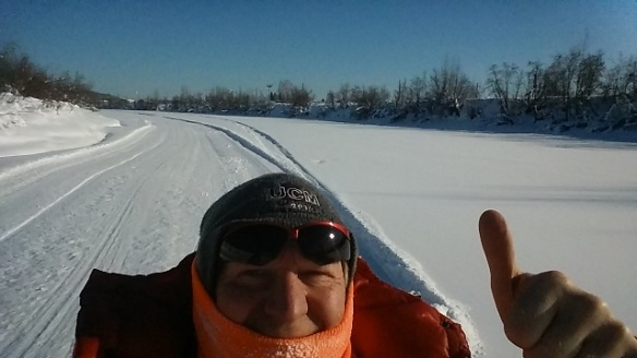 Bad Bob gives Chena River trail a thumbs up
