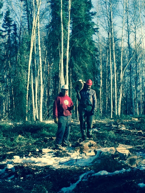 Bill Husby and Ken Coe doing trail maintenance
