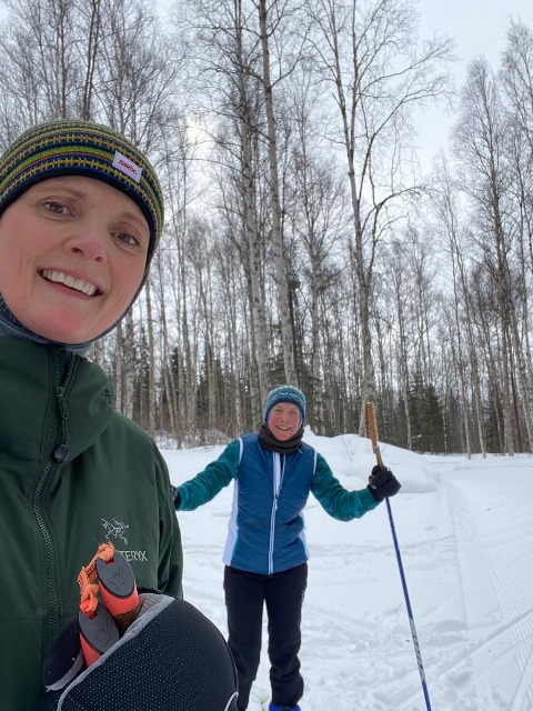Joanna & Norma on the classical 10 km