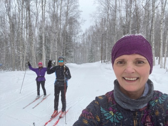 Skiing with social distancing